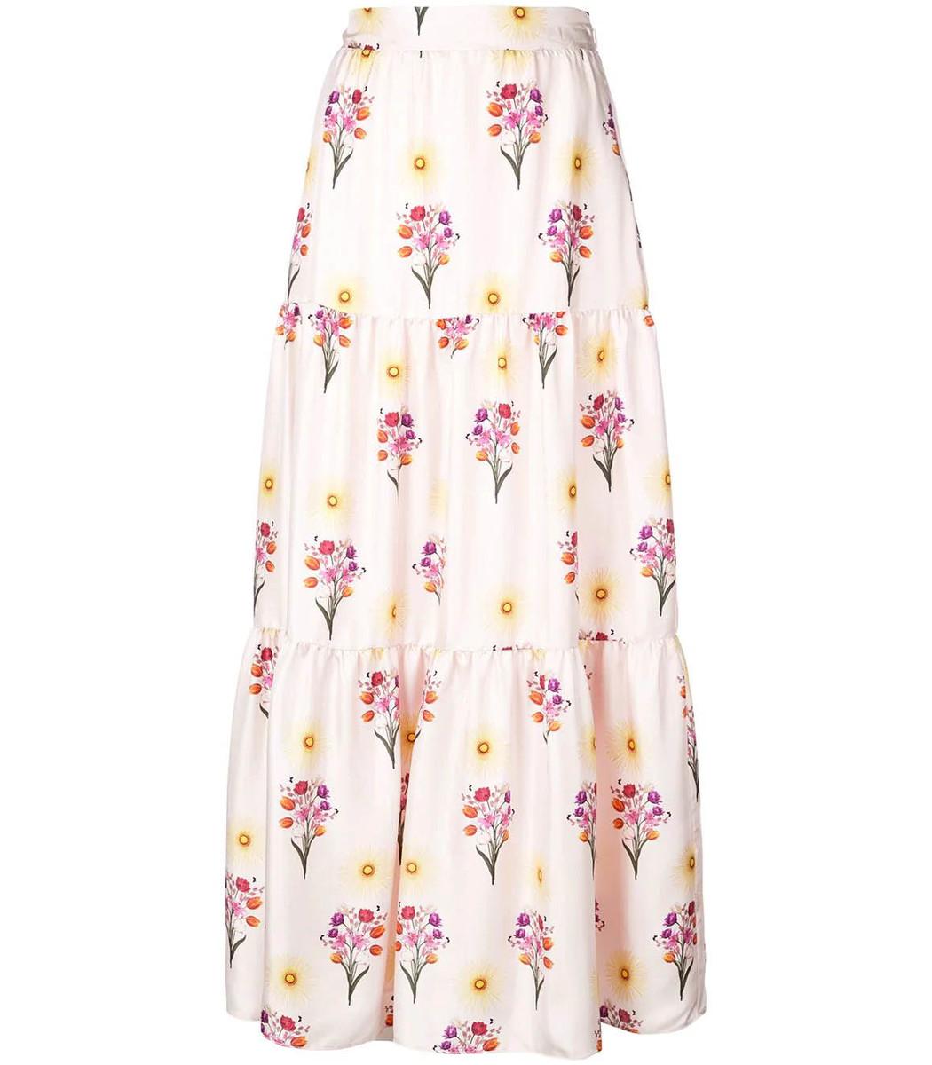 Borgo De Nor Multicolor Floral Maxi Skirt