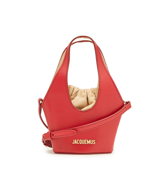 le cariño leather bucket bag