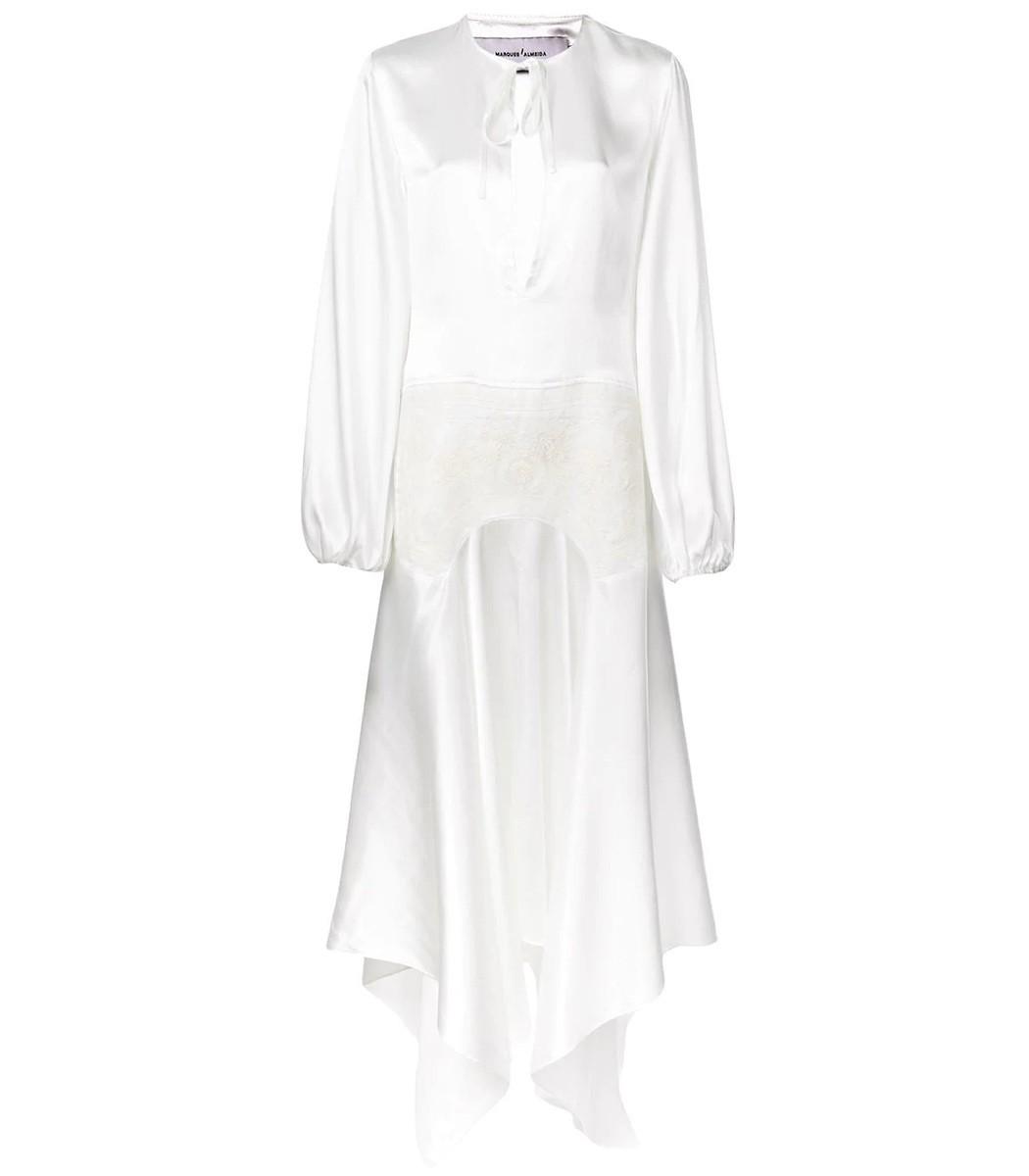 Marques' Almeida Asymmetric Hem Dress