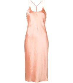 midi satin slip dress