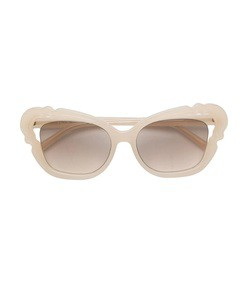 white oversized sunglasses
