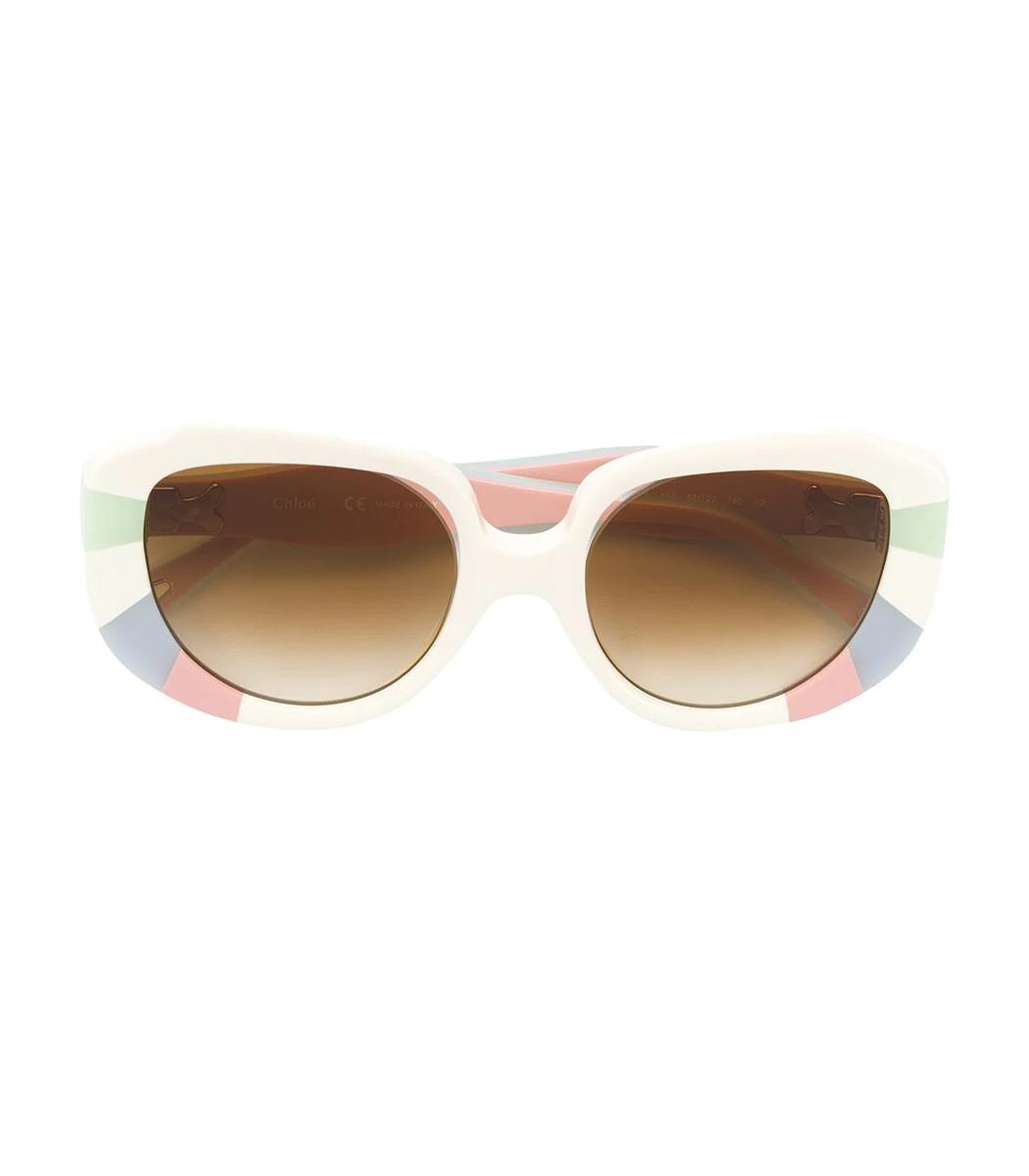 8eccb40c652 Chloé Venus Colour Block Cat Eye Sunglasses - ShopBAZAAR