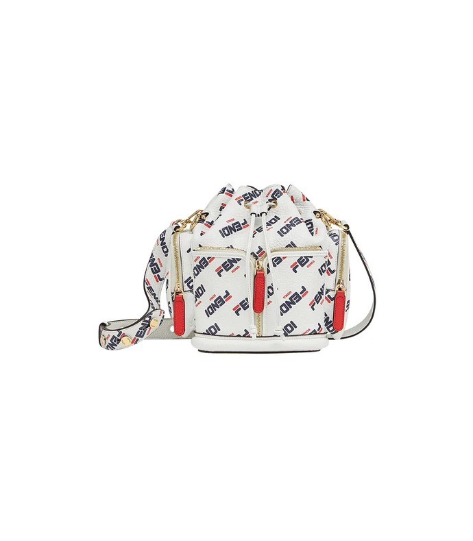 white mania mon tresor bucket bag