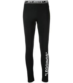 logo print leggings