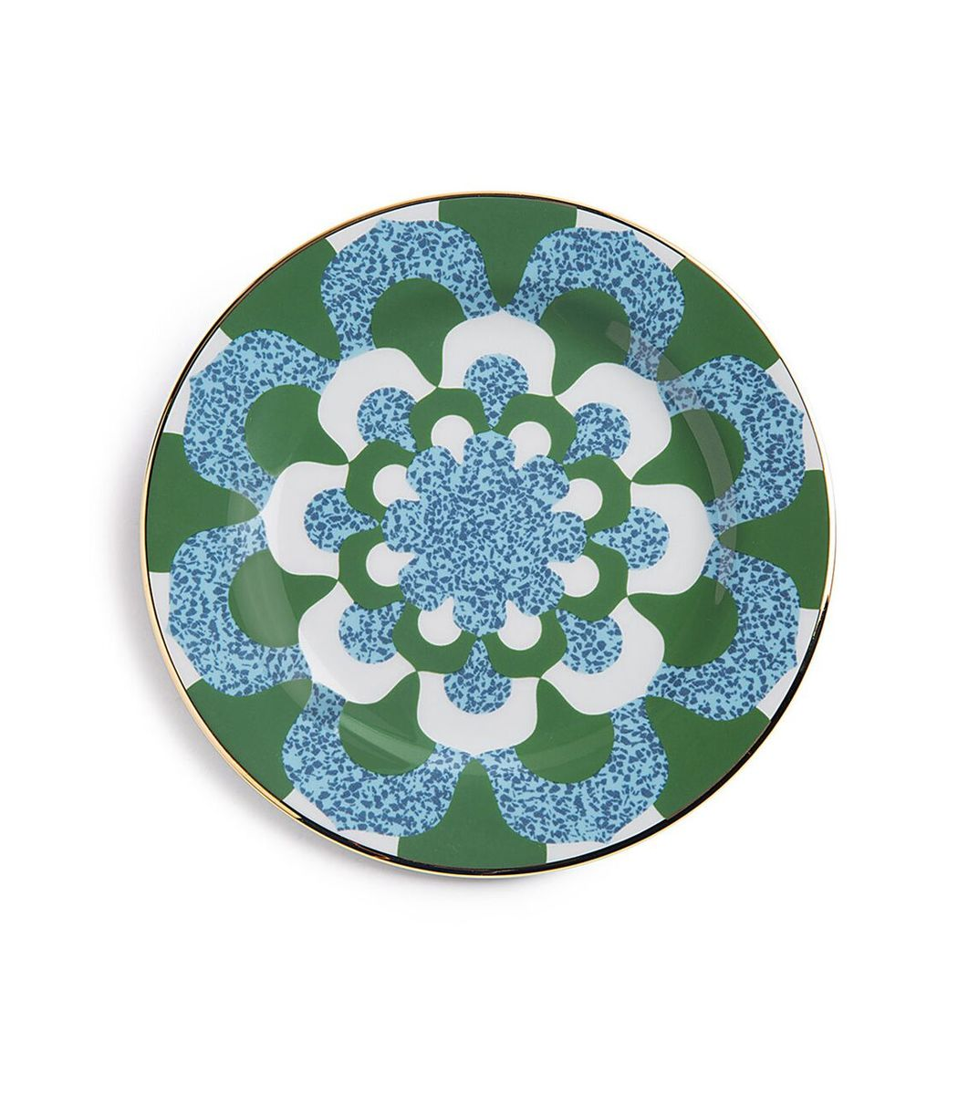 LA DOUBLEJ Blue/Green Housewives Mosaico Blu Dessert Plates (Set of 2)
