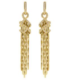 forget me knot cascade diamond earrings