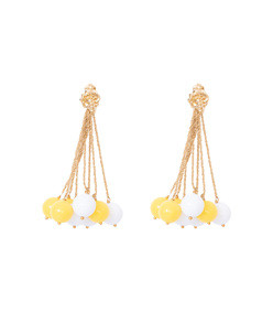 yellow & white x aurelie bidermann palazzo earrings