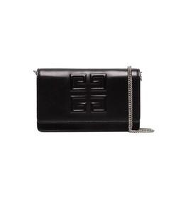 black emblem chain wallet