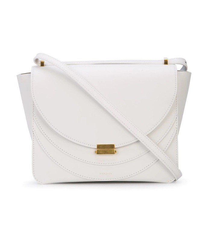 white luna shoulder bag