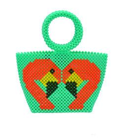green iris mini flamingo bag