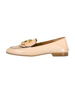 shiny calfskin loafer