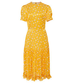 yellow hummingbird dress