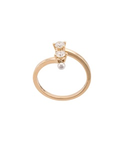 gold two in one diamond ring