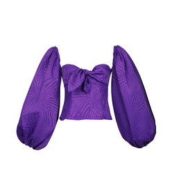 silk baloon sleeve top