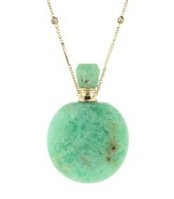 round chrysoprase potion bottle necklace