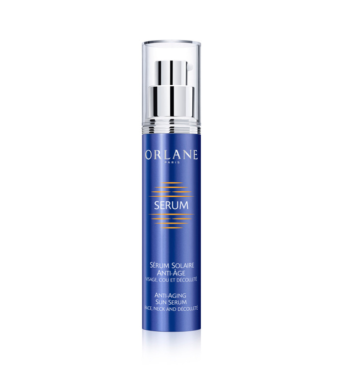 anti-aging sun serum face neck and decollete