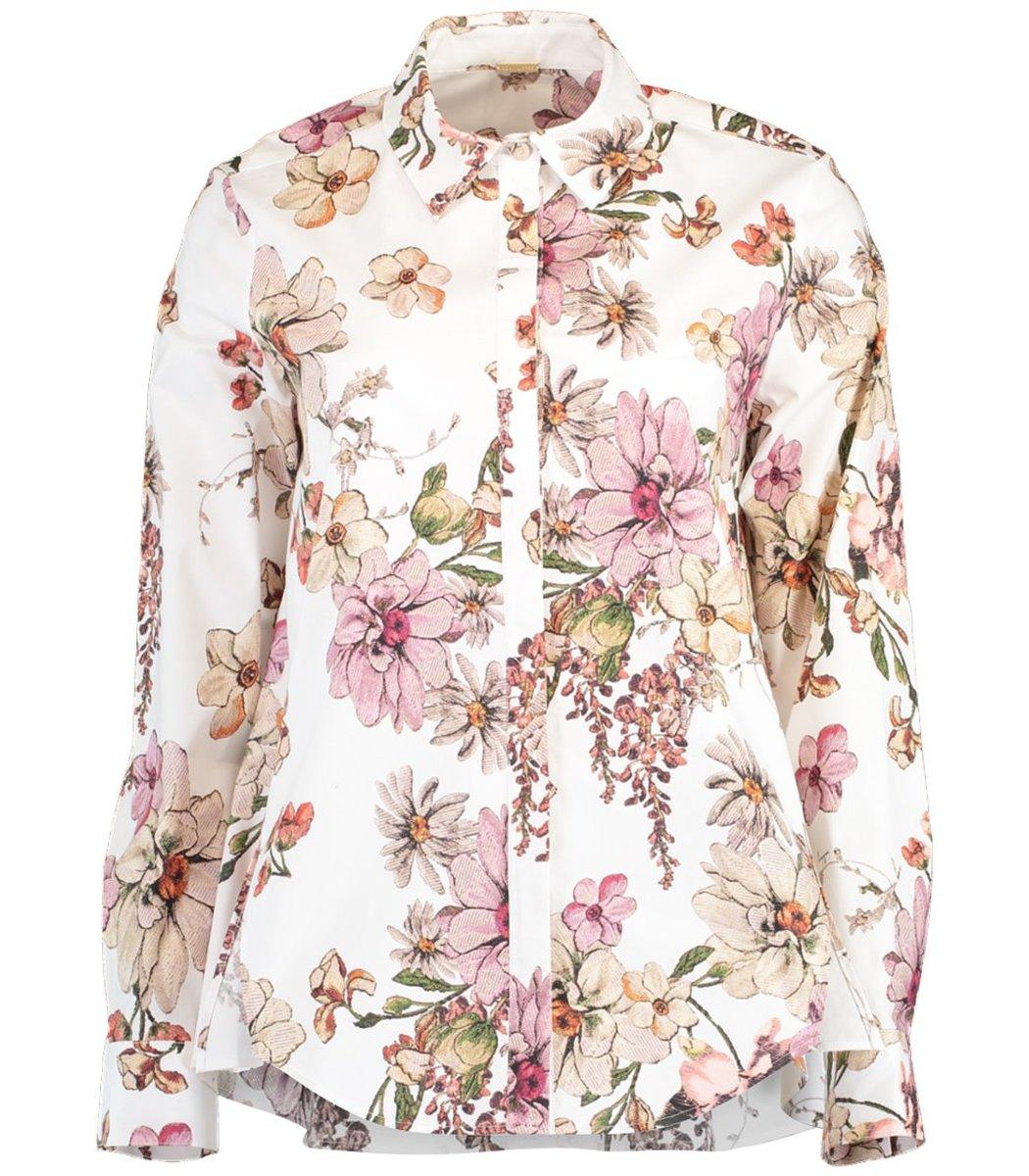 Adam Lippes White Floral Print Shirt