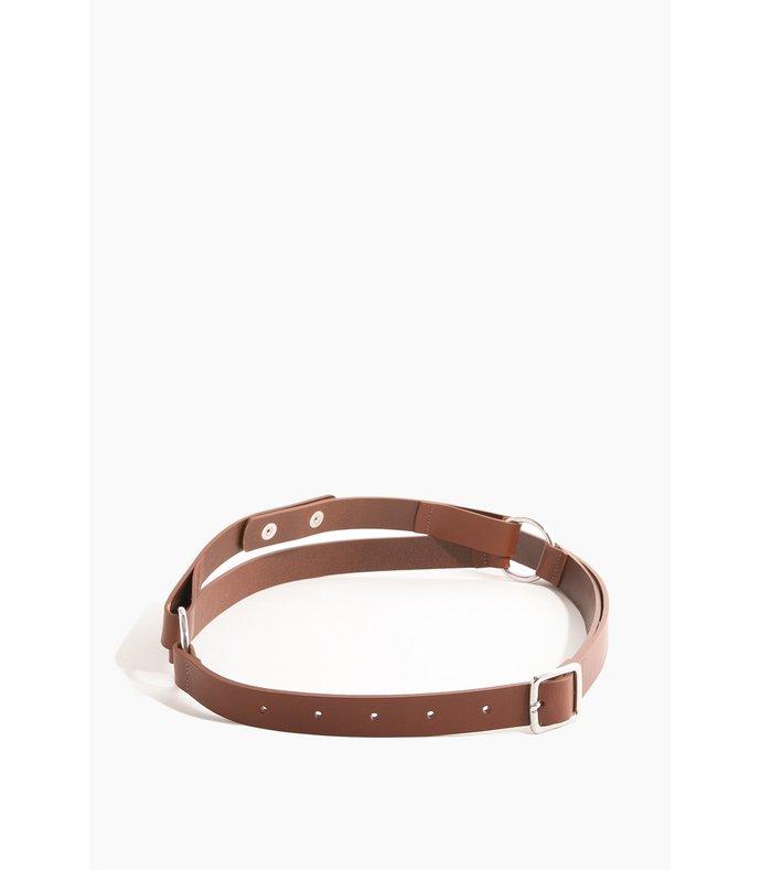 harness belt in cognac
