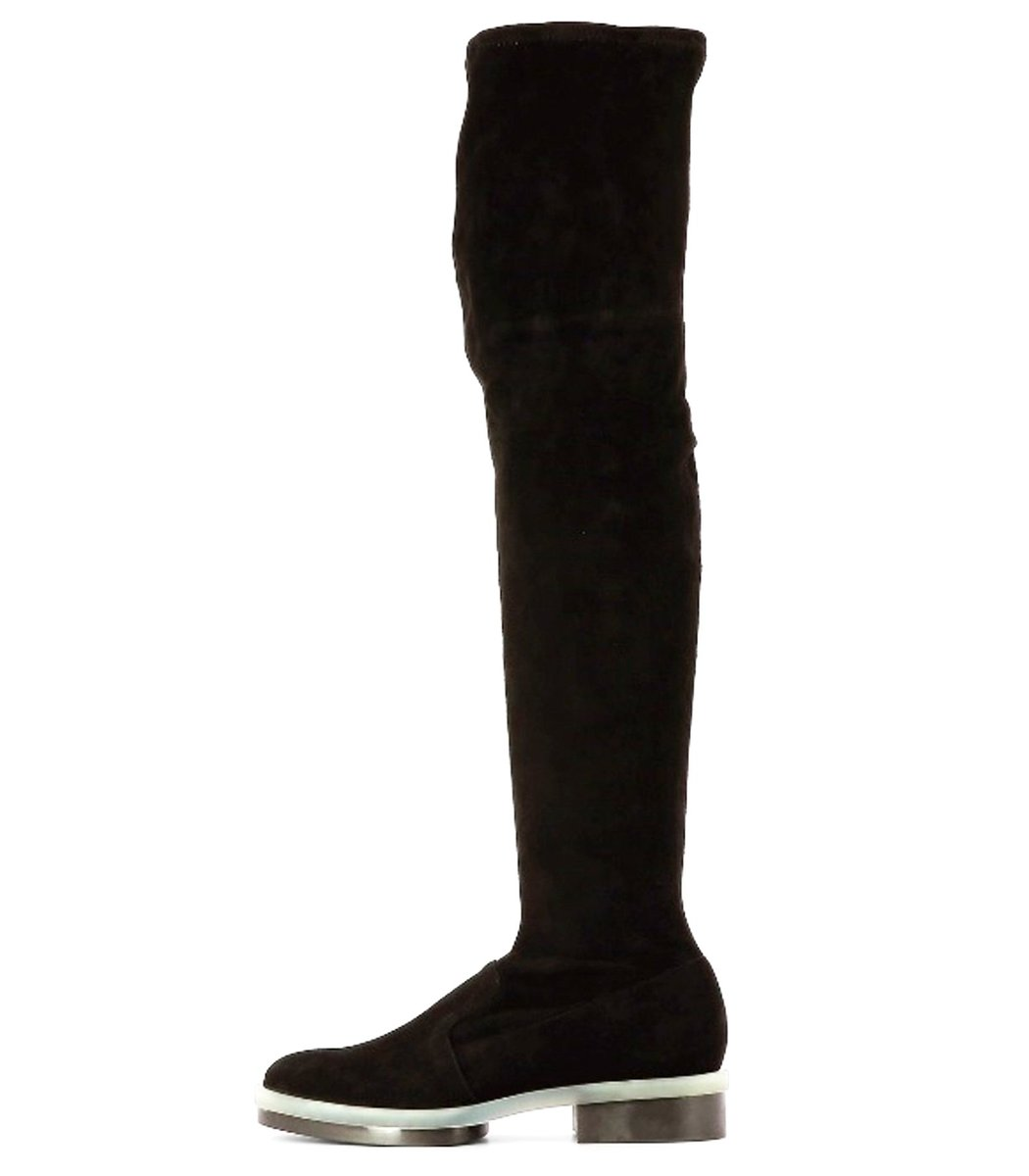 Clergerie Rock A4 Leather Stretch Boots in Black