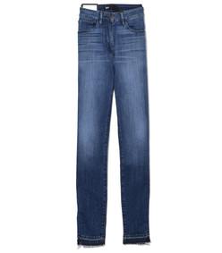 denim blue vamp higher ground zipper skinny jean
