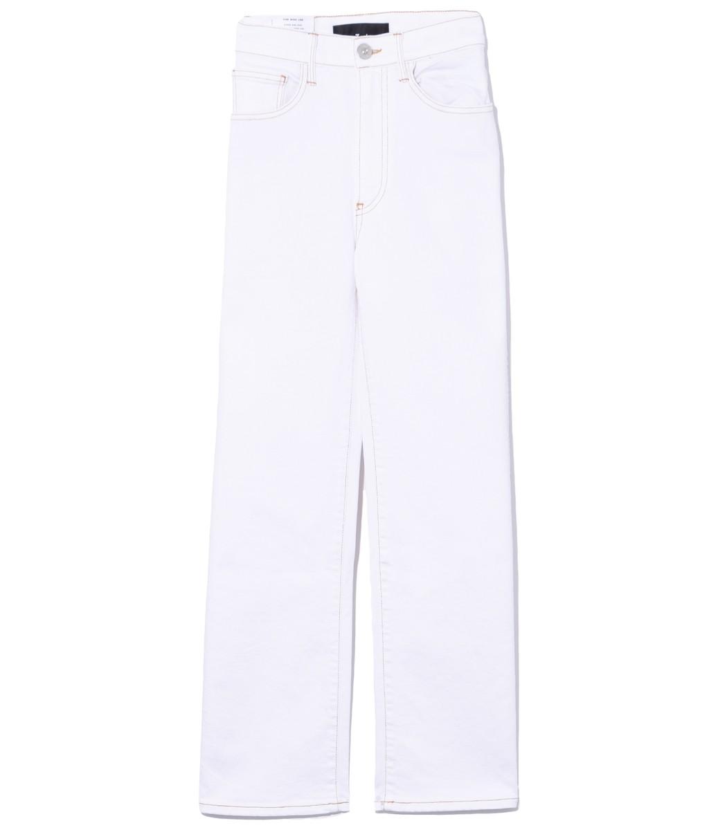 3X1 Joni High-Rise Crop Wide-Leg Jeans in Winter White