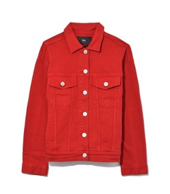 oversized classic jacket in apple red