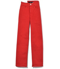 w4 shelter wide leg crop jean in apple red