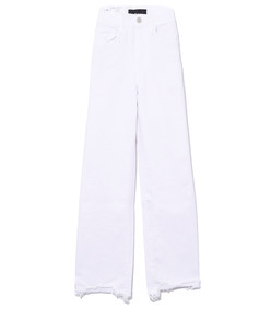 white neve w4 shelter wideleg crop pant