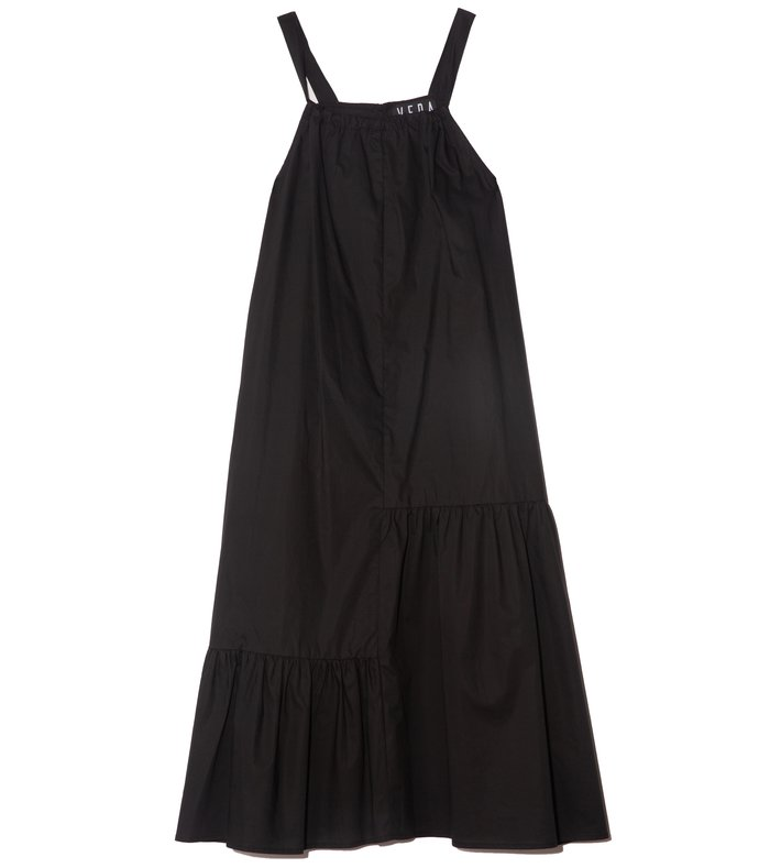 agua cotton dress in black