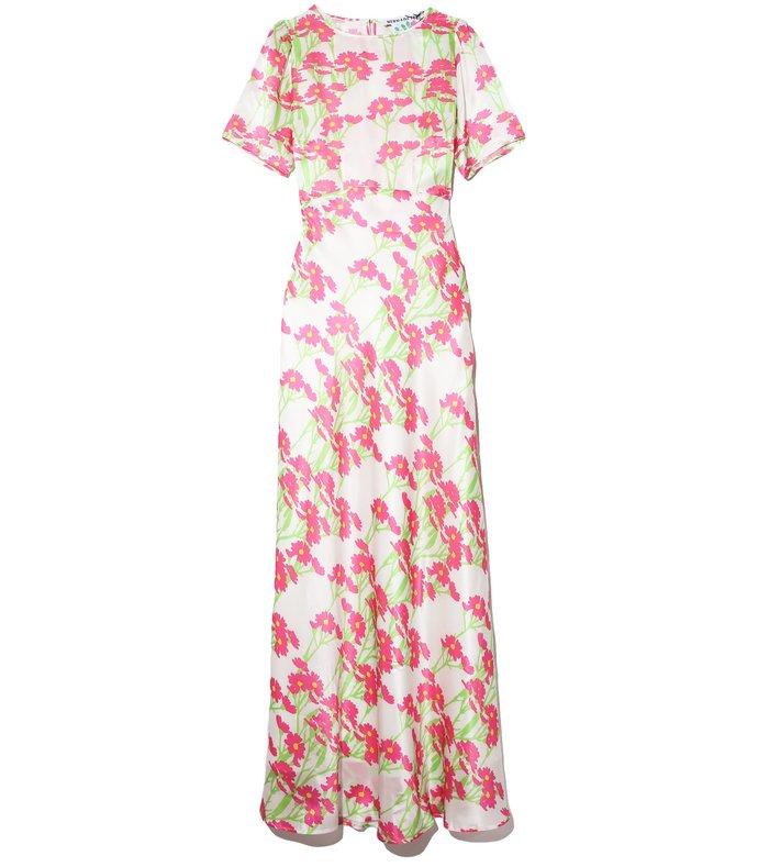 jane dress in daisy neon/white