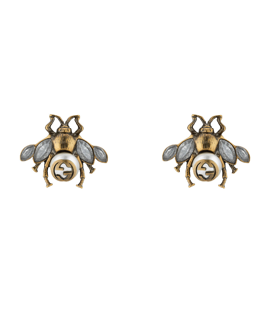 Gucci Bee earrings with crystals zgRtWN