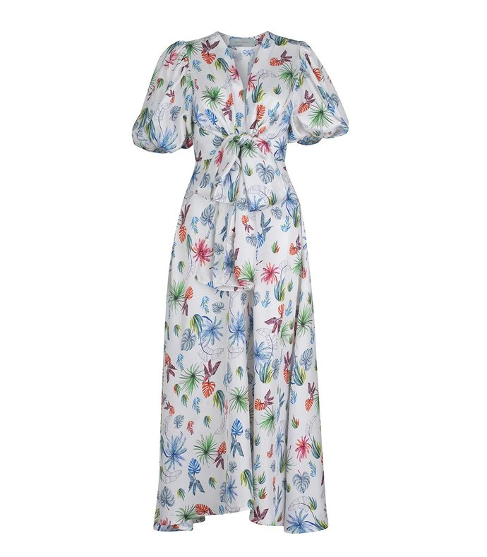 irio fora print seeveess dress