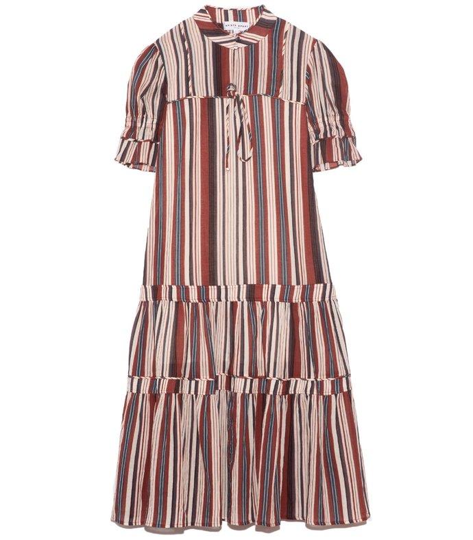 los altos dress in sienna stripe