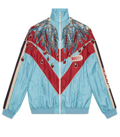 embroidered nylon jacket