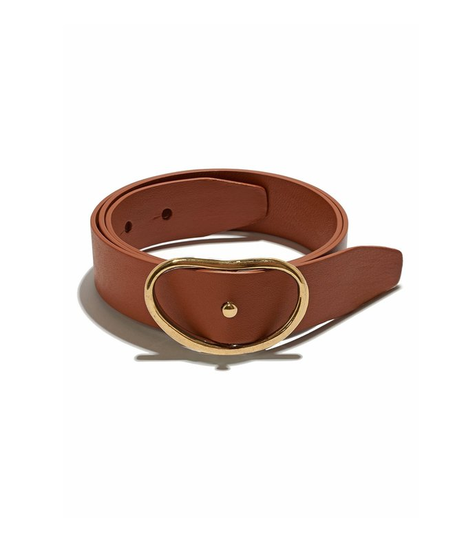 wide georgia belt in tan