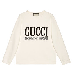 gucci cities print sweatshirt
