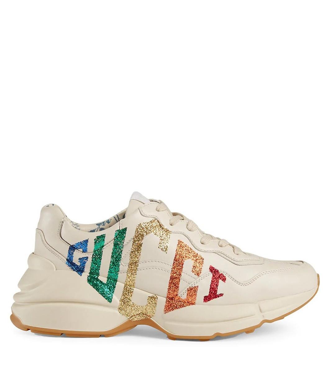 45f94e007864 Home   Gucci   Glitter Leather Sneaker. prev