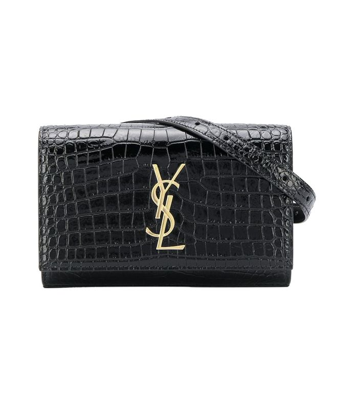 kate croc-embossed belt bag