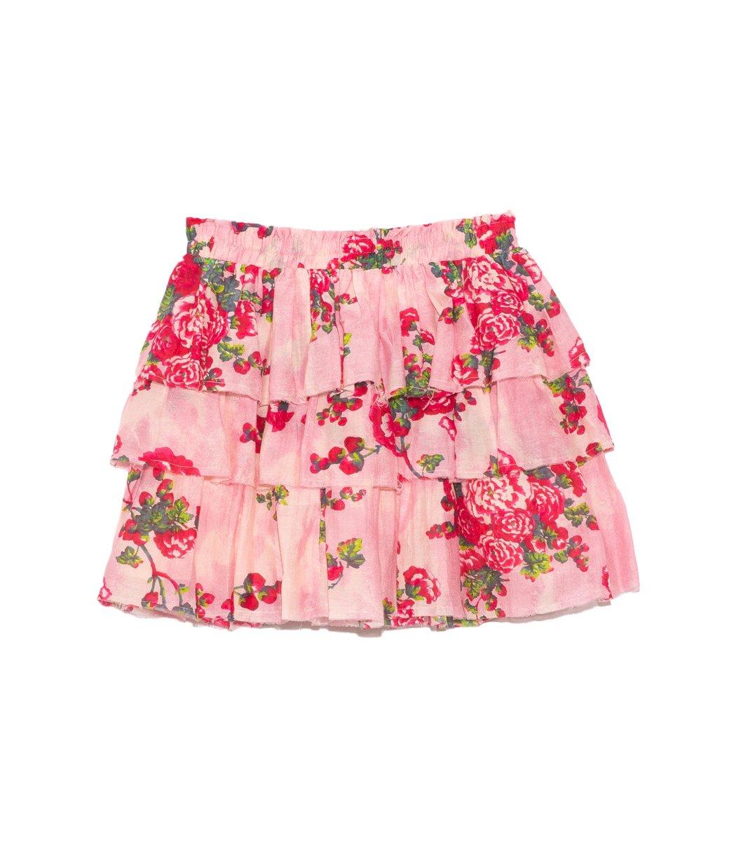 Loveshackfancy Brynlee Skirt in Pink Desert