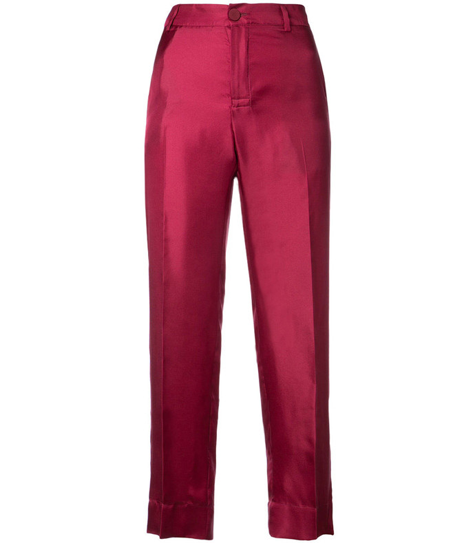pink twill brocade agon pant