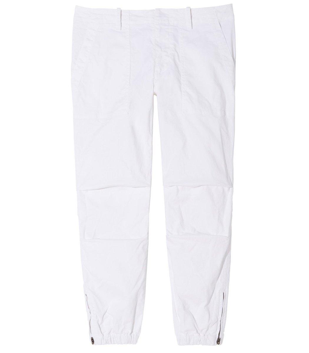 Nili Lotan Cropped Military Pant in White