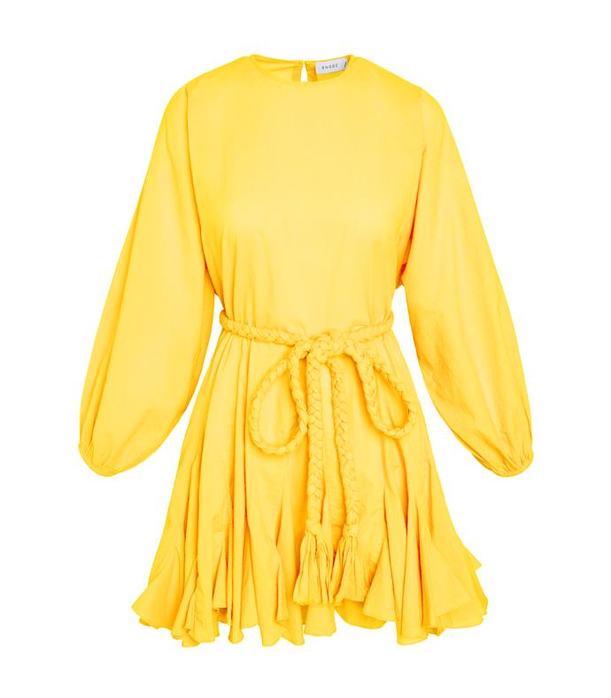 ella dress in canary