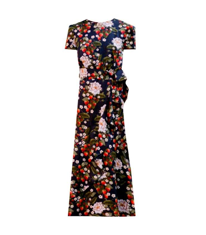 zoe twill floral dress