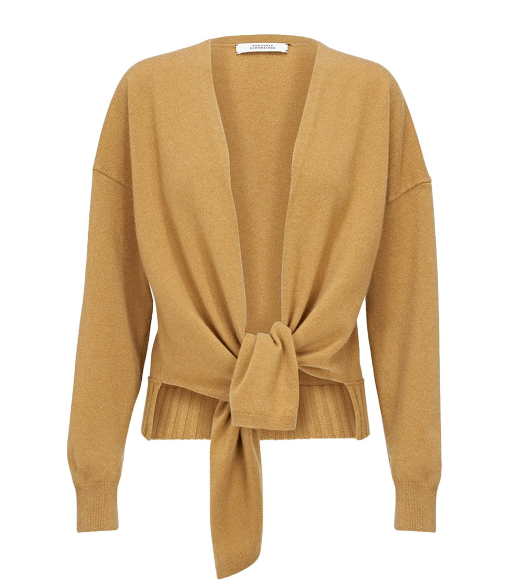 Dorothee Schumacher Cardigans Sophisticated Softness Cardigan in Soft Curry
