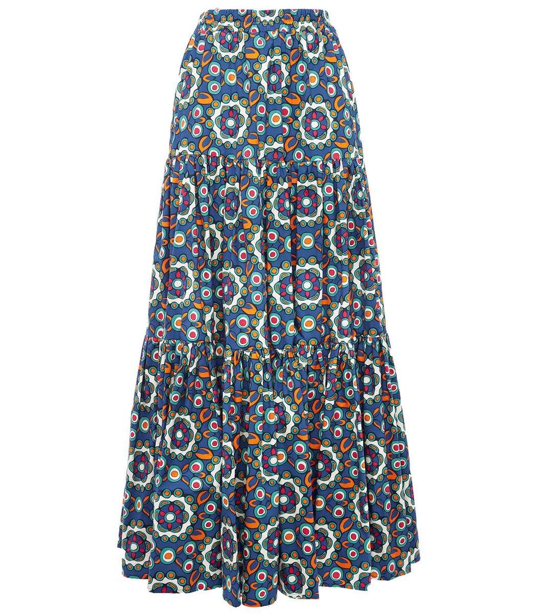 La Doublej Big Skirt in Kaleidoscope Bluette