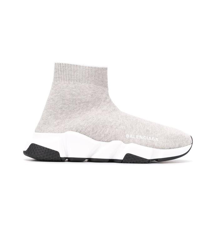 light grey speed sock sneakers