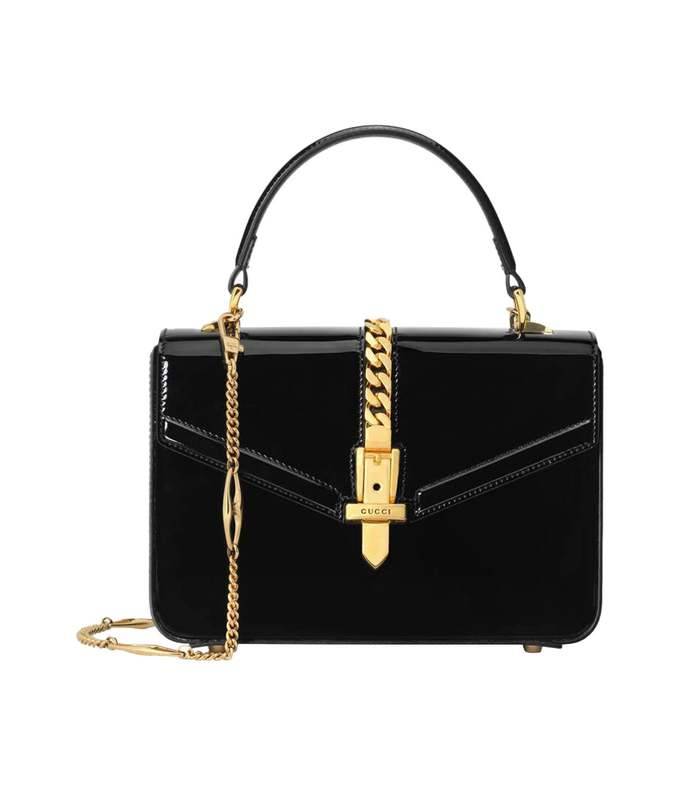 patent leather sylvie bag