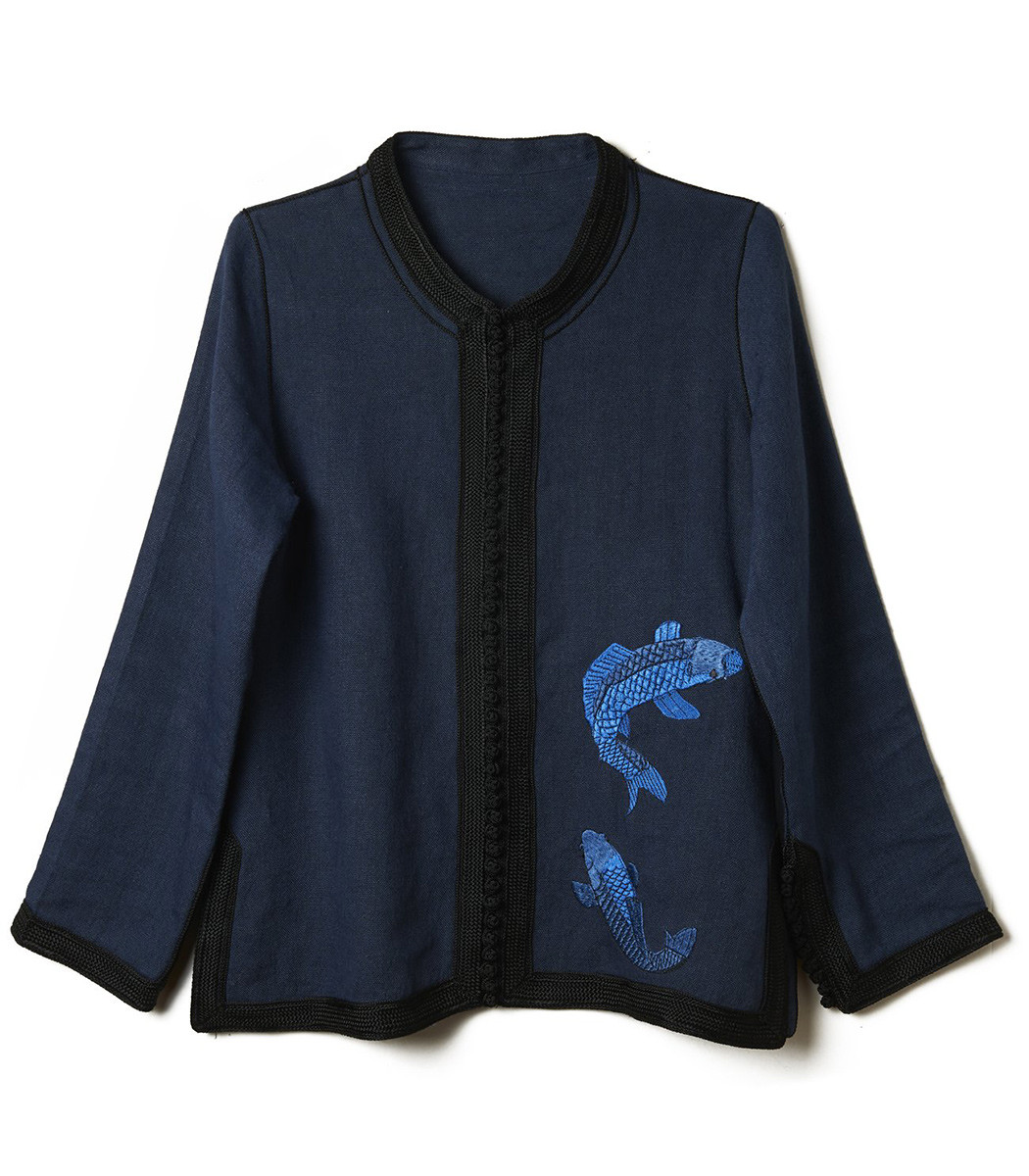 embroidered fish tunic
