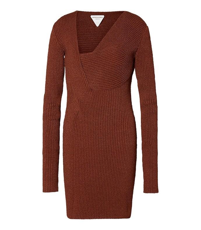 rust sable knit dress
