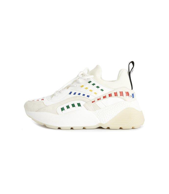 plastic sneaker in white/multi